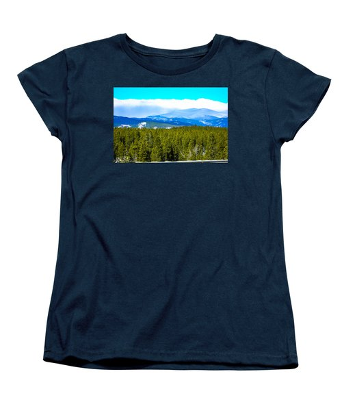 Women's T-Shirt (Standard Cut) featuring the photograph Fog In The Rockies by Shannon Harrington
