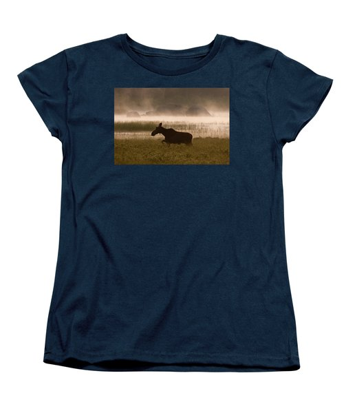 Foggy Stroll Women's T-Shirt (Standard Cut) by Brent L Ander