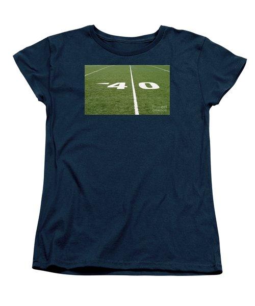 Women's T-Shirt (Standard Cut) featuring the photograph Football Field Forty by Henrik Lehnerer