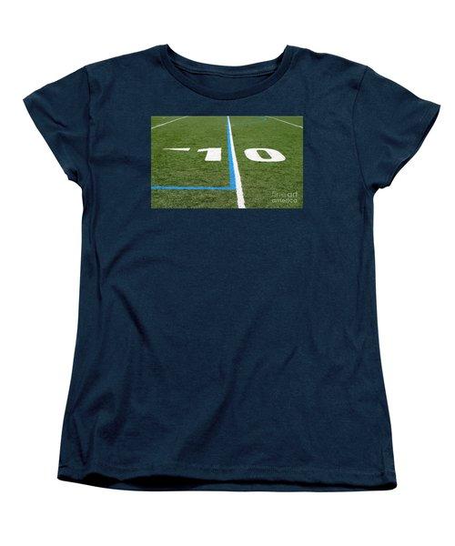 Women's T-Shirt (Standard Cut) featuring the photograph Football Field Ten by Henrik Lehnerer
