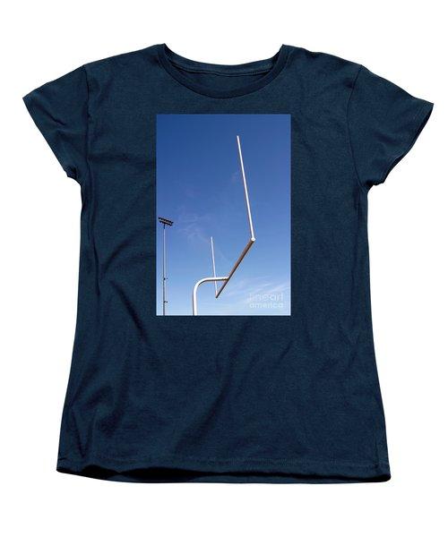 Women's T-Shirt (Standard Cut) featuring the photograph Football Goal by Henrik Lehnerer