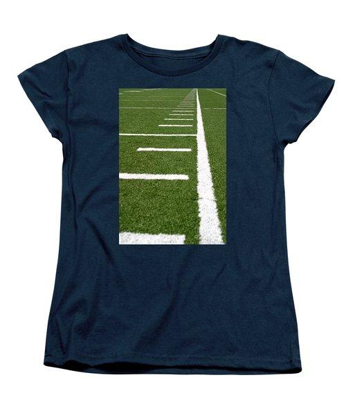 Women's T-Shirt (Standard Cut) featuring the photograph Football Lines by Henrik Lehnerer