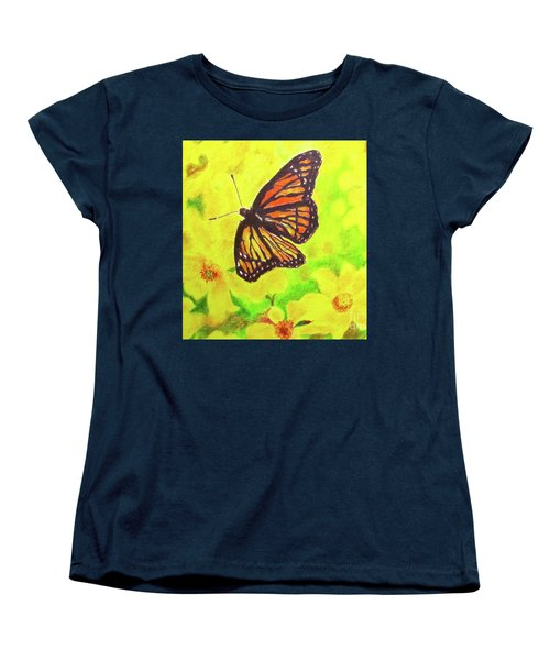 Women's T-Shirt (Standard Cut) featuring the drawing Free To Fly by Beth Saffer