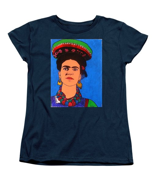Frida Kahlo Women's T-Shirt (Standard Cut) by Roberto Prusso