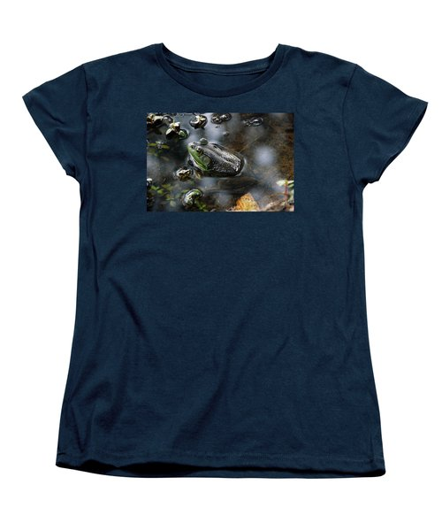 Frog In The Millpond Women's T-Shirt (Standard Cut) by Kay Lovingood