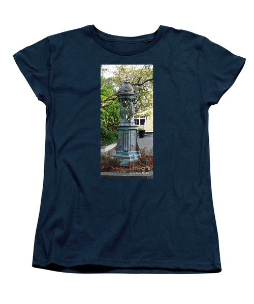 Women's T-Shirt (Standard Cut) featuring the photograph Garden Statuary In The French Quarter by Alys Caviness-Gober