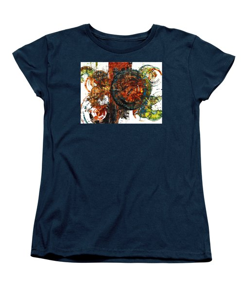 Women's T-Shirt (Standard Cut) featuring the painting Gaurdian  02.101511 by Kris Haas