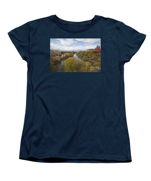 Women's T-Shirt (Standard Cut) featuring the photograph Genesee River by William Norton