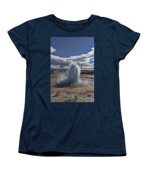 Women's T-Shirt (Standard Cut) featuring the photograph Geysir 2 by David Gleeson