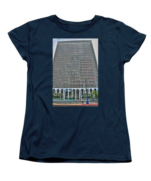 Women's T-Shirt (Standard Cut) featuring the photograph Giant Bank Of M And T by Michael Frank Jr