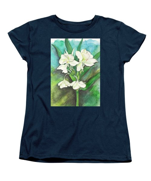 Women's T-Shirt (Standard Cut) featuring the painting Ginger Lilies by Carla Parris