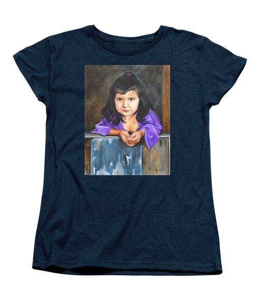 Women's T-Shirt (Standard Cut) featuring the painting Girl From San Luis by Lori Brackett