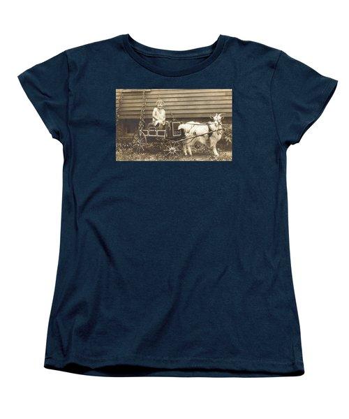 Women's T-Shirt (Standard Cut) featuring the photograph Goat Wagon by Bonfire Photography