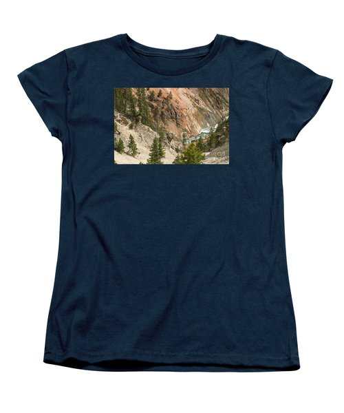 Grand Canyon And Yellowstone River Women's T-Shirt (Standard Cut) by Living Color Photography Lorraine Lynch