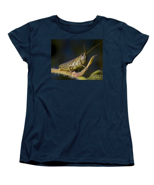 Women's T-Shirt (Standard Cut) featuring the photograph Grasshopper by Art Whitton