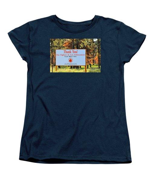 Gratitude Women's T-Shirt (Standard Cut) by Pamela Walrath
