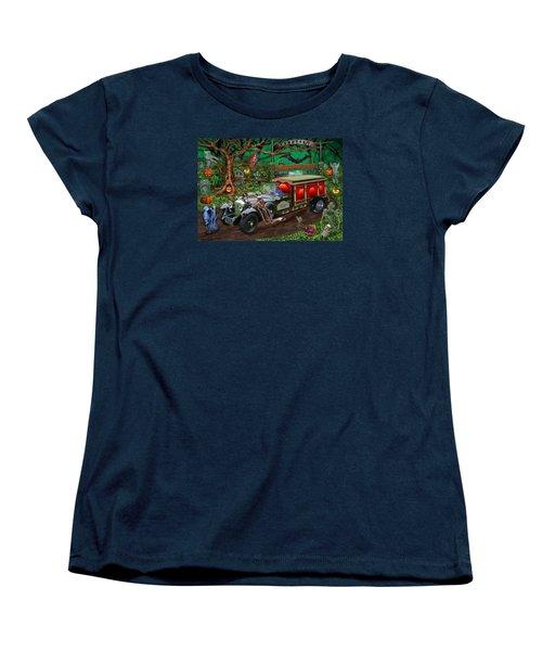 Graveyard Ghost Tours Women's T-Shirt (Standard Cut) by Glenn Holbrook