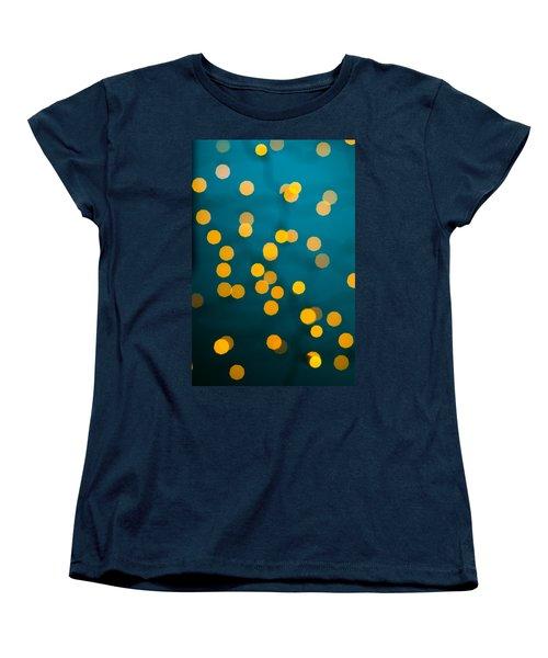 Green Background With Gold Dots  Women's T-Shirt (Standard Cut) by Ulrich Schade