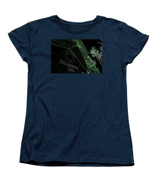 Green Night Women's T-Shirt (Standard Cut) by Zafer Gurel