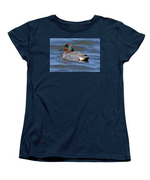 Green Winged Teal Women's T-Shirt (Standard Cut) by Joe Faherty