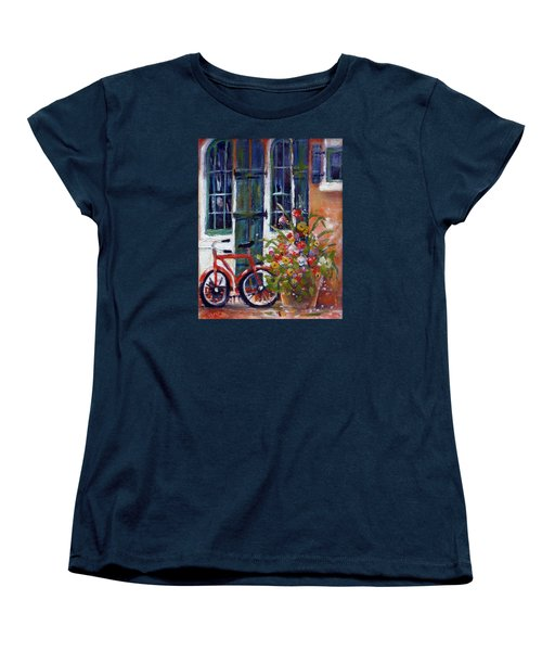 Habersham Bike Shop Women's T-Shirt (Standard Cut) by Gertrude Palmer