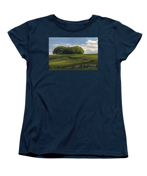 Women's T-Shirt (Standard Cut) featuring the photograph Hackpen Hill by Clare Bambers
