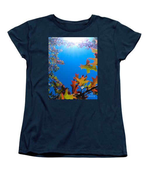 Women's T-Shirt (Standard Cut) featuring the photograph Happy Autumn by CML Brown