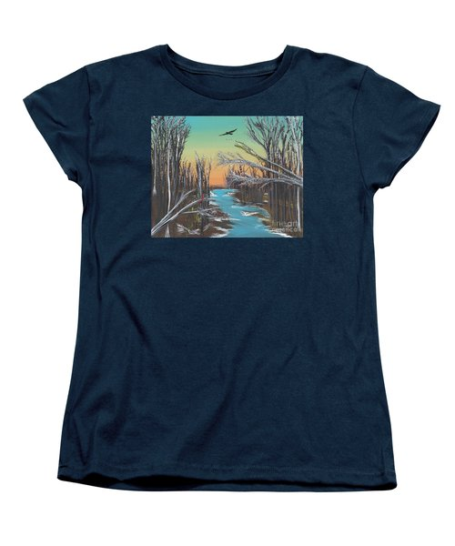 Women's T-Shirt (Standard Cut) featuring the painting Happy Day by Alys Caviness-Gober