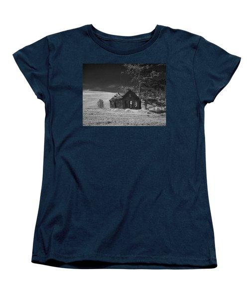 Haunted House Women's T-Shirt (Standard Cut) by Anne Mott