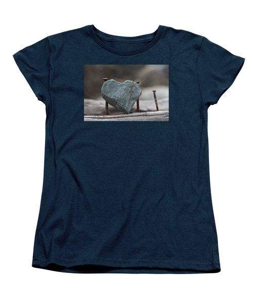 Heart Of Stone Women's T-Shirt (Standard Cut) by Cathie Douglas