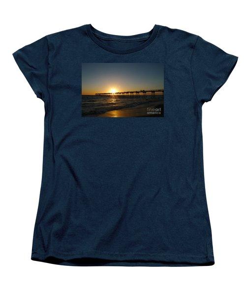 Hermosa Beach Sunset Women's T-Shirt (Standard Cut) by Nina Prommer