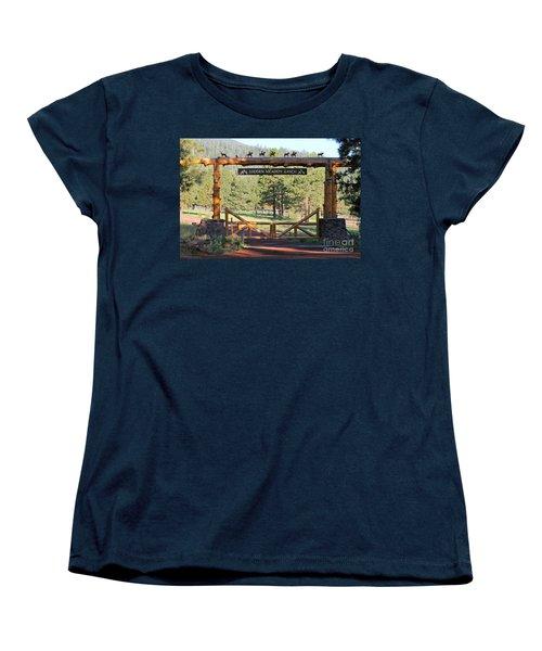Hidden Meadow Ranch Women's T-Shirt (Standard Cut) by Pamela Walrath