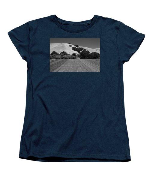 Women's T-Shirt (Standard Cut) featuring the photograph Hillside Farmland by Kathleen Grace