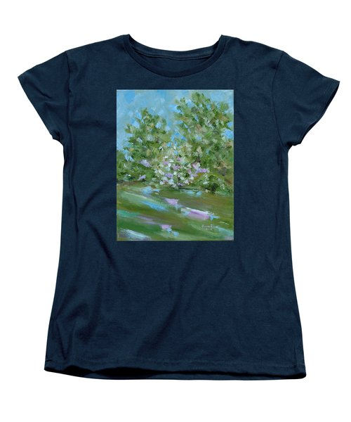 Women's T-Shirt (Standard Cut) featuring the painting Hilltop by Judith Rhue