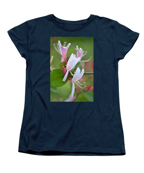 Women's T-Shirt (Standard Cut) featuring the photograph Honeysuckle by JD Grimes