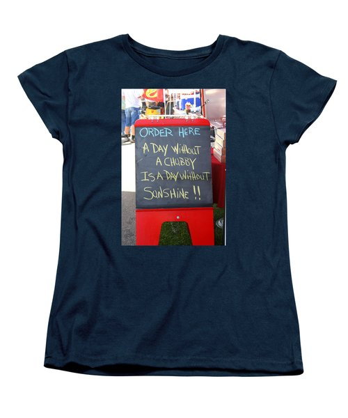 Women's T-Shirt (Standard Cut) featuring the photograph Hot Dog Stand Humor by Kay Novy