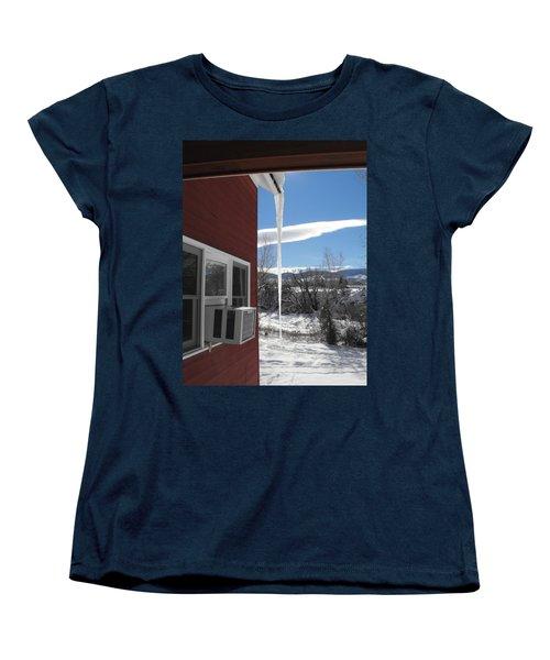 Ice In Motion Women's T-Shirt (Standard Cut) by Adam Cornelison