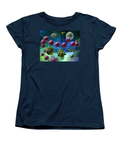 Women's T-Shirt (Standard Cut) featuring the digital art Immune Response Cytotoxic 1 by Russell Kightley
