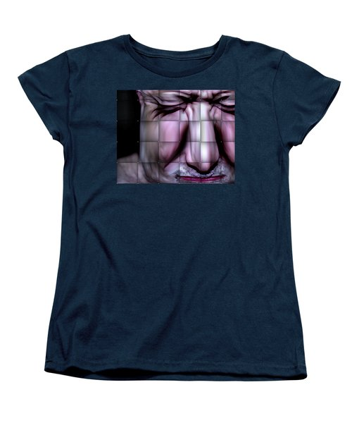 Women's T-Shirt (Standard Cut) featuring the mixed media In The Moment by Terence Morrissey
