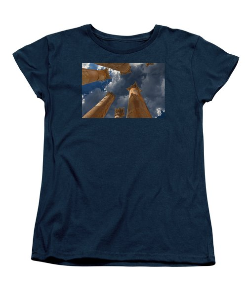 Women's T-Shirt (Standard Cut) featuring the photograph Jerash by David Gleeson