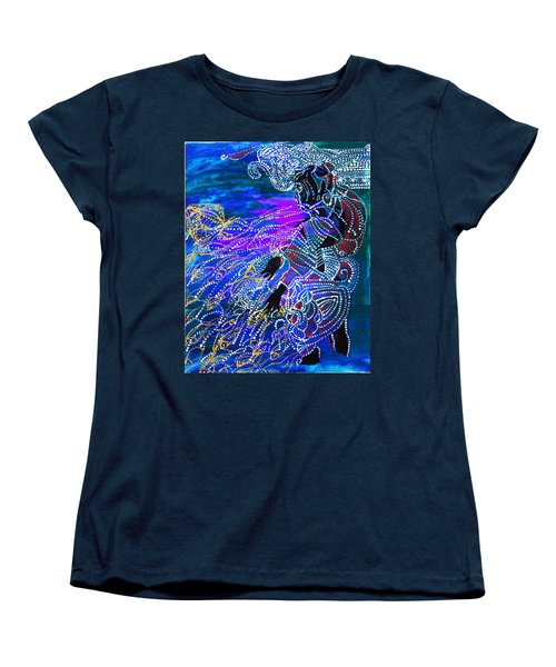 Women's T-Shirt (Standard Cut) featuring the painting Jesus Reaps His Harvest by Gloria Ssali