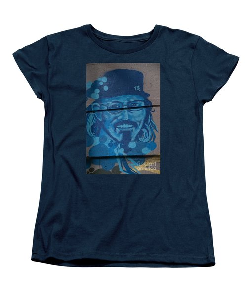 Johnny On The Wall Women's T-Shirt (Standard Cut) by Carol Ailles
