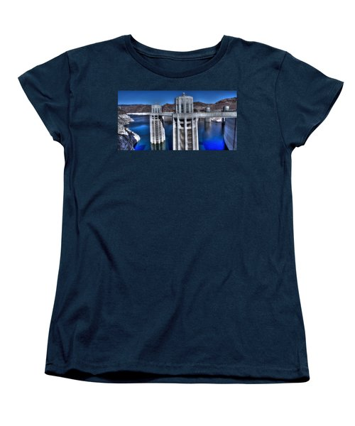 Lake Mead Hoover Dam Women's T-Shirt (Standard Cut) by Jonathan Davison