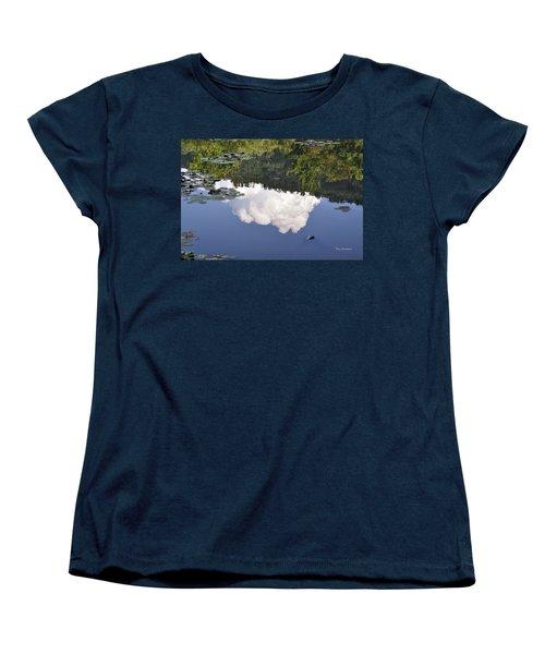 Women's T-Shirt (Standard Cut) featuring the photograph Lake Reflection by Kay Lovingood
