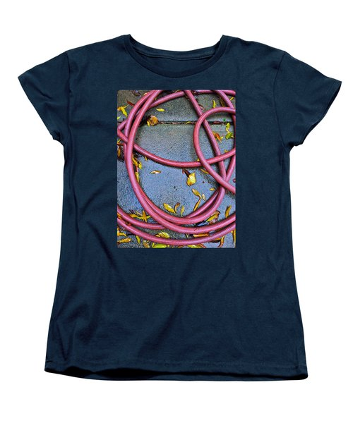 Women's T-Shirt (Standard Cut) featuring the photograph Leaves And Hose by Bill Owen