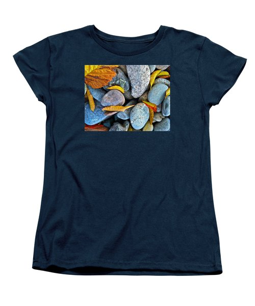 Women's T-Shirt (Standard Cut) featuring the photograph Leaves And Rocks by Bill Owen