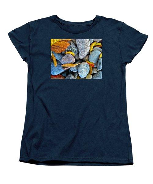 Leaves And Rocks Women's T-Shirt (Standard Cut) by Bill Owen