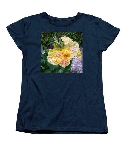 Women's T-Shirt (Standard Cut) featuring the digital art Leopard Flower by Claude McCoy