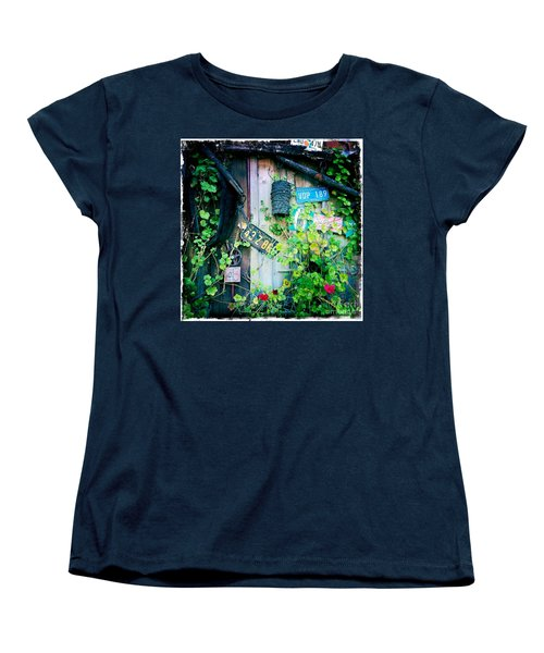 Women's T-Shirt (Standard Cut) featuring the photograph License Plate Wall by Nina Prommer
