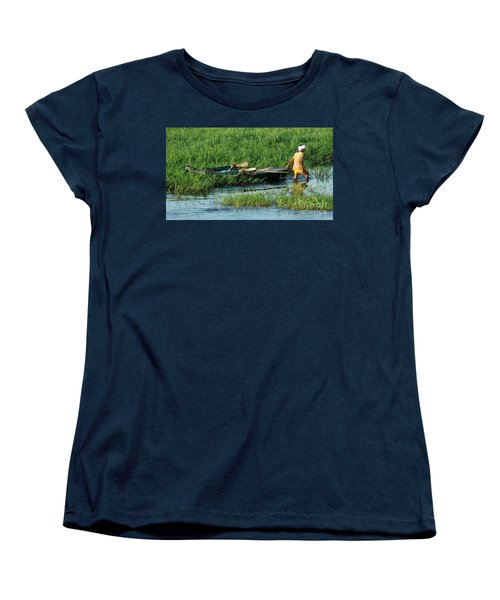 Women's T-Shirt (Standard Cut) featuring the photograph Life Along The Nile by Vivian Christopher